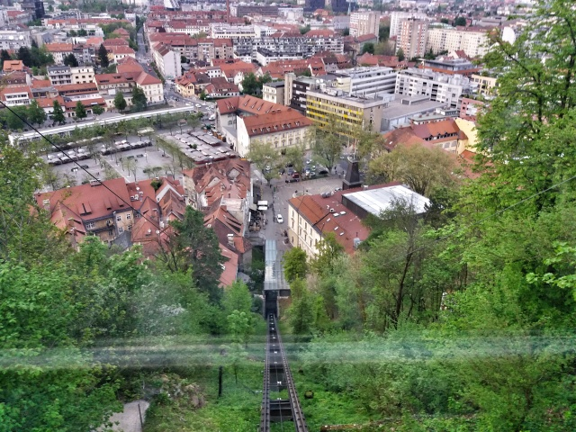View_from_funicular_Ljublana_Castle