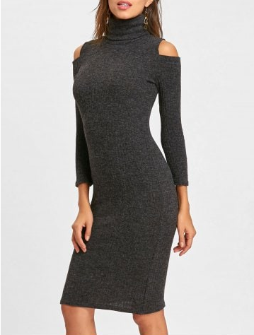 rosegal_dress_sweater_review_turtleneck