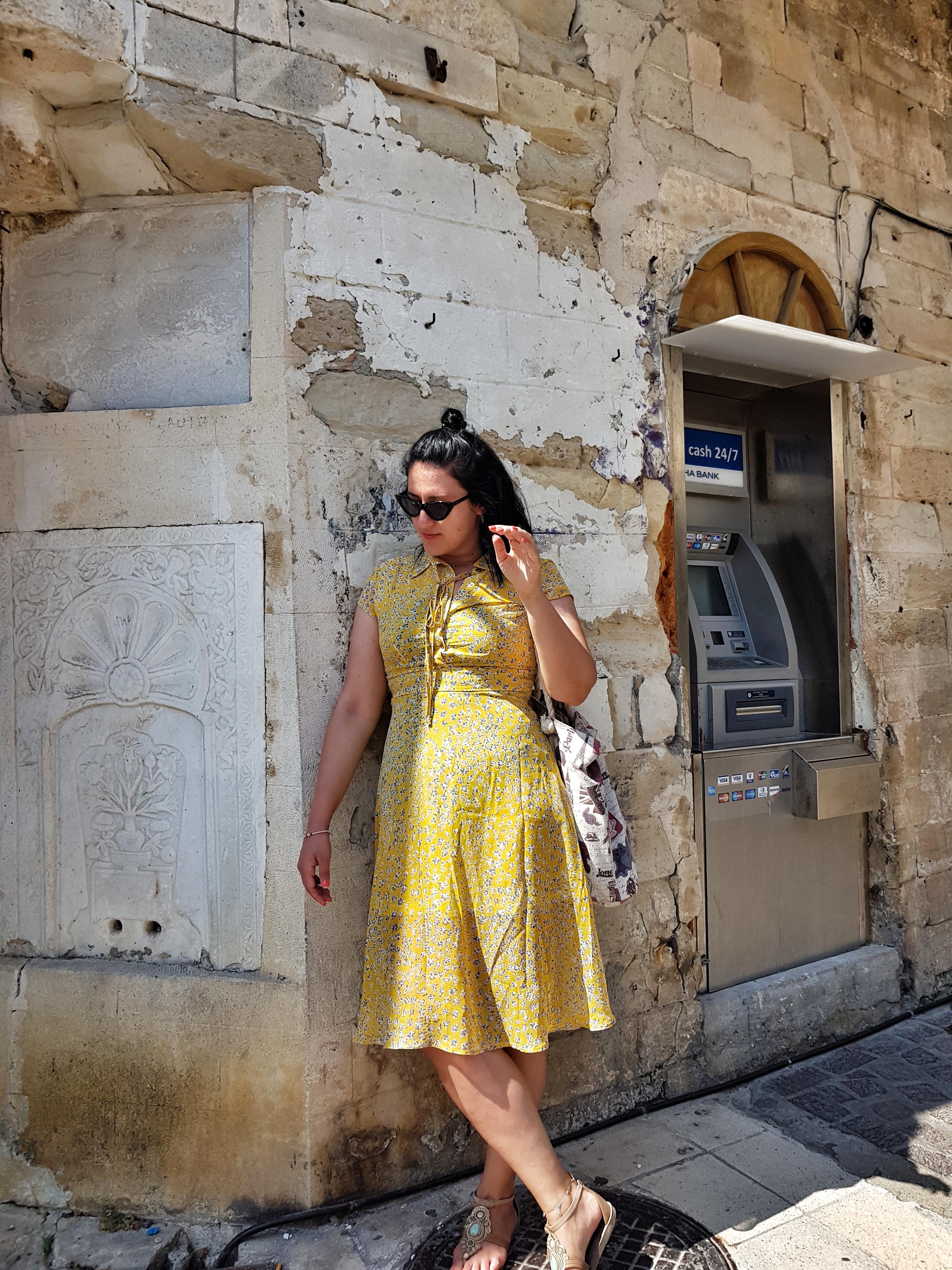 floral_print_yellow_dress_zaful_review_chania_crete