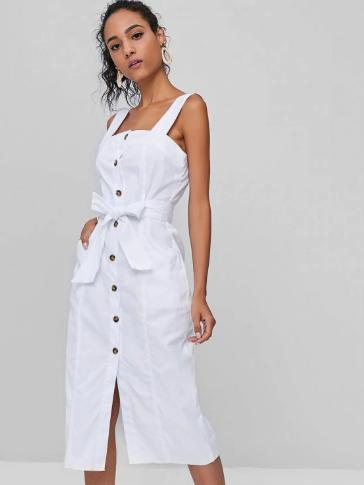 white_sleeveless_dress_zaful