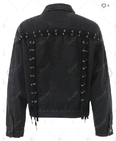 rosegal_black_laceup_denim_jacket_bottomup