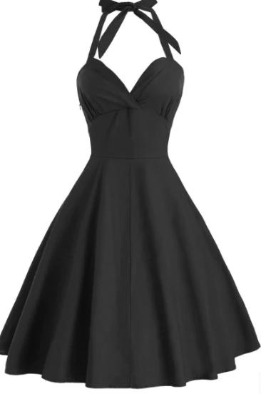 black_vintage_dress_front