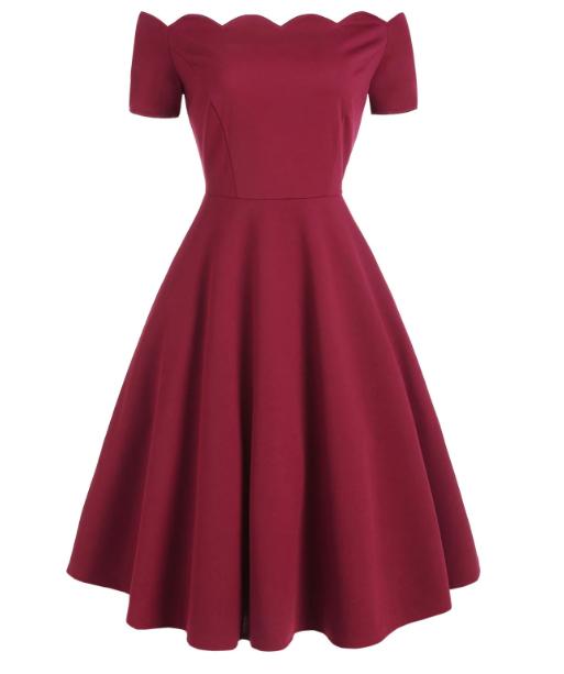 burgundy_retrodress_dresslily_front