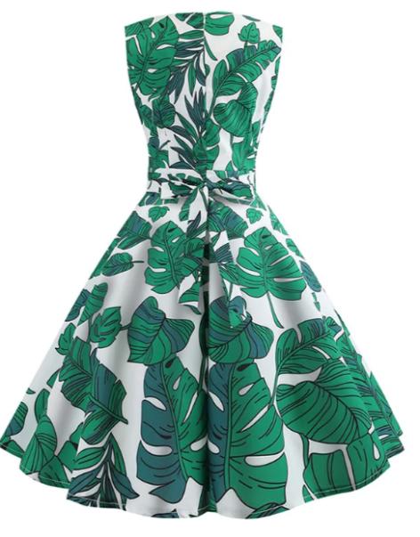 vintage_leafprint_dress_dresslily_back
