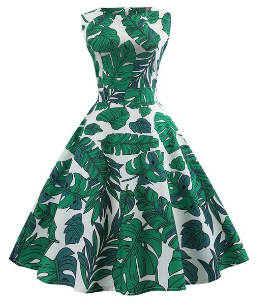 vintage_leafprint_dress_dresslily_front