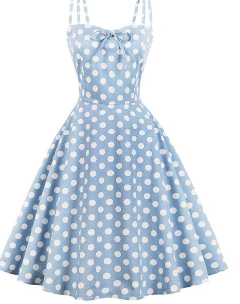 vintage_polkadot_bluedress_dresslily_front
