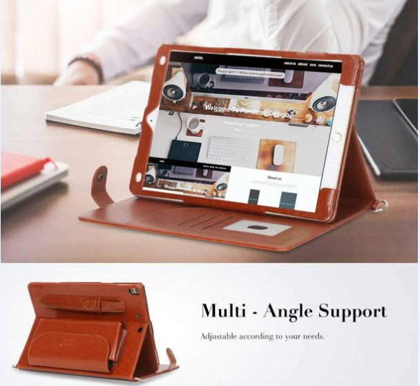 FYY_tablet_Ipadair_cover_case_brown_multiangle_support